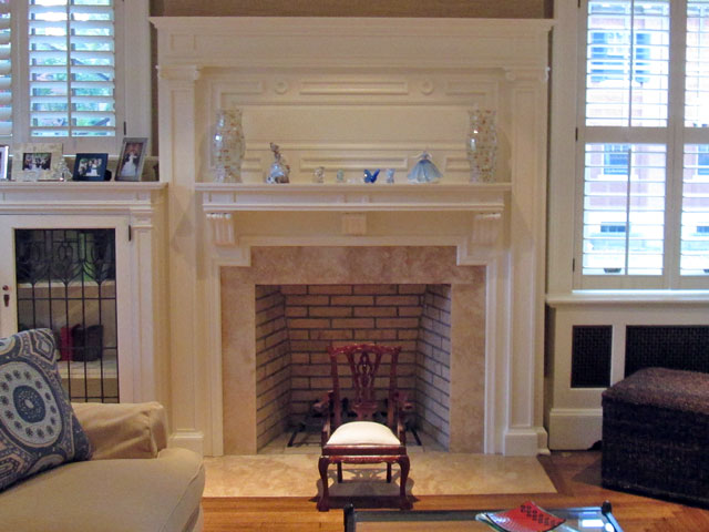 Open masonry fireplaces american chimney fireplace - How to reface a brick fireplace ...